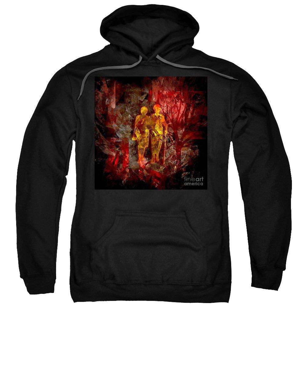 Love Sweatshirt featuring the digital art Eternity 008-13 Marucii by Marek Lutek