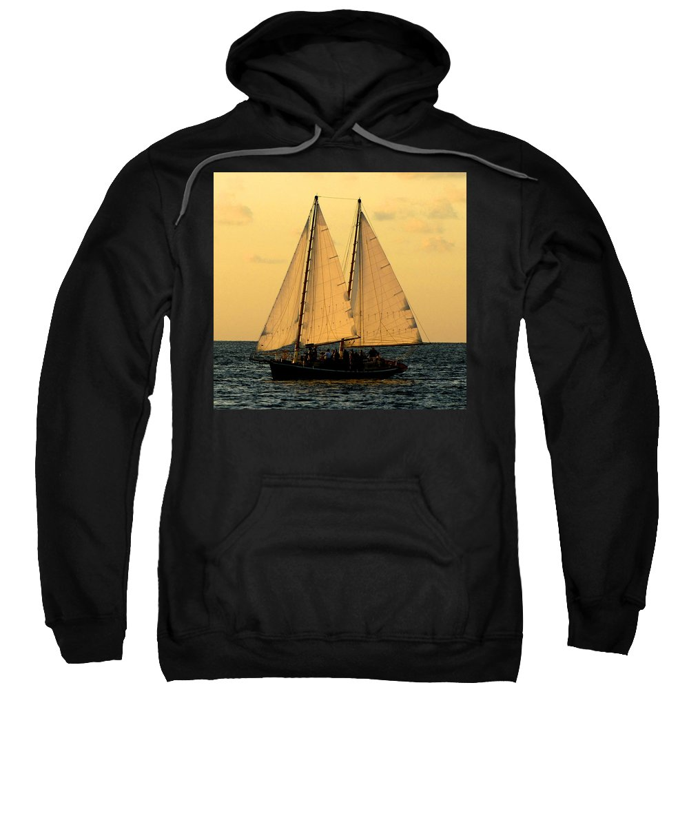 Water Sweatshirt featuring the photograph More Sails In Key West by Bob Slitzan
