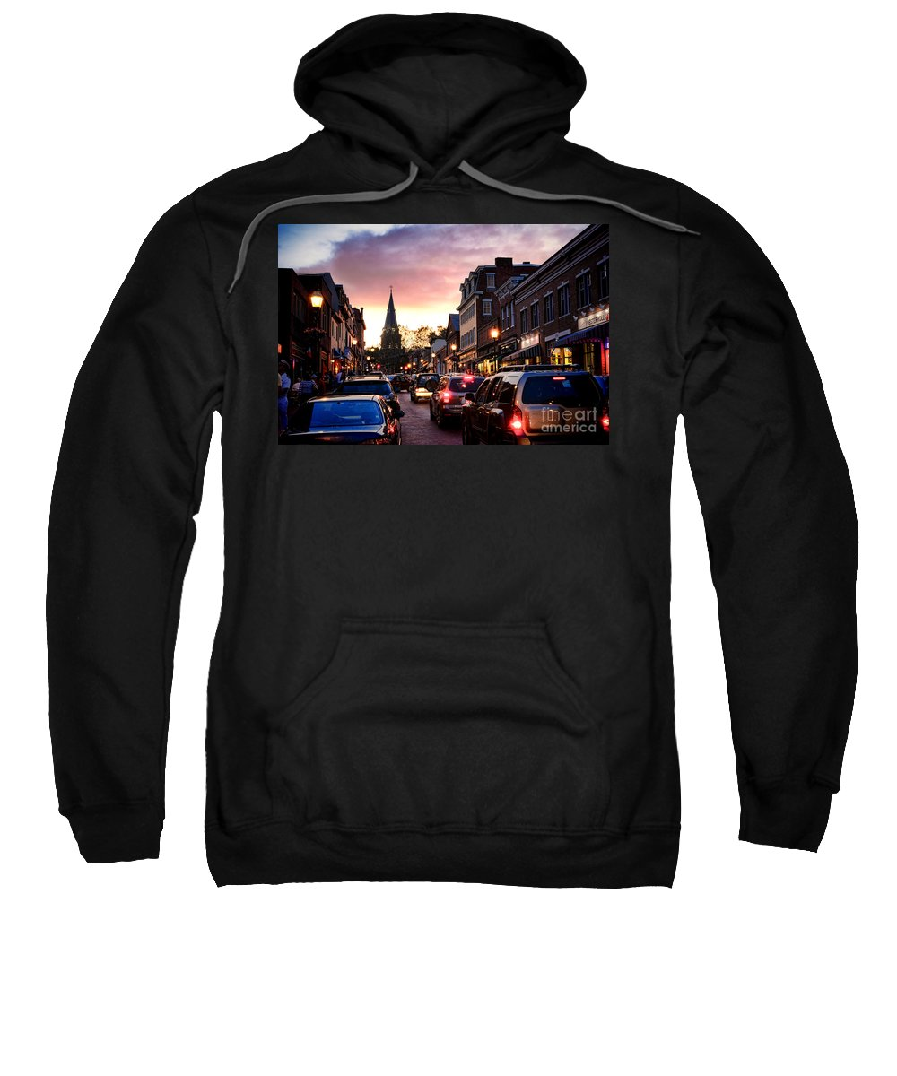 Annapolis Sweatshirt featuring the photograph Evening In Annapolis by Olivier Le Queinec