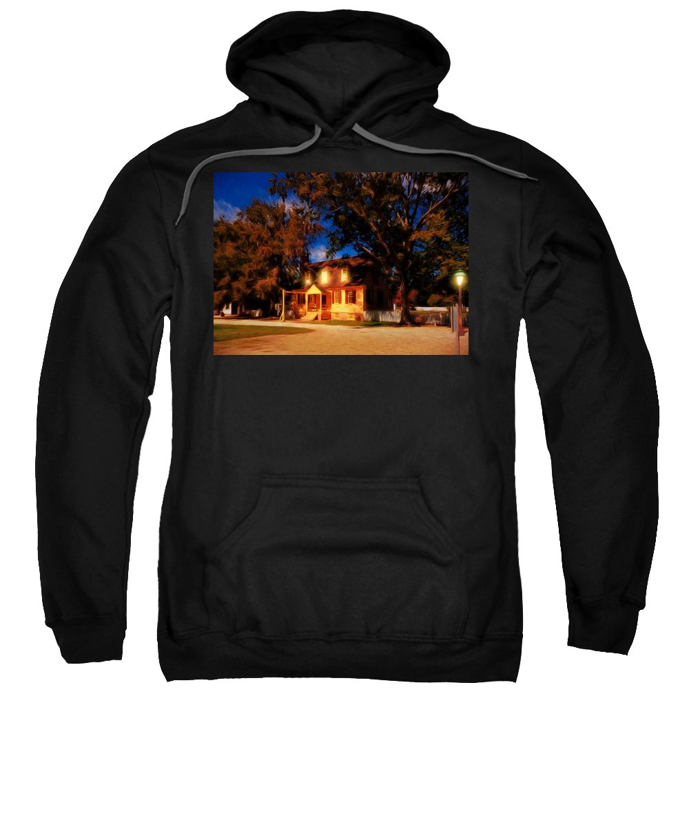 Architecture Sweatshirt featuring the photograph Evening In Small Town U. S. A. by John M Bailey