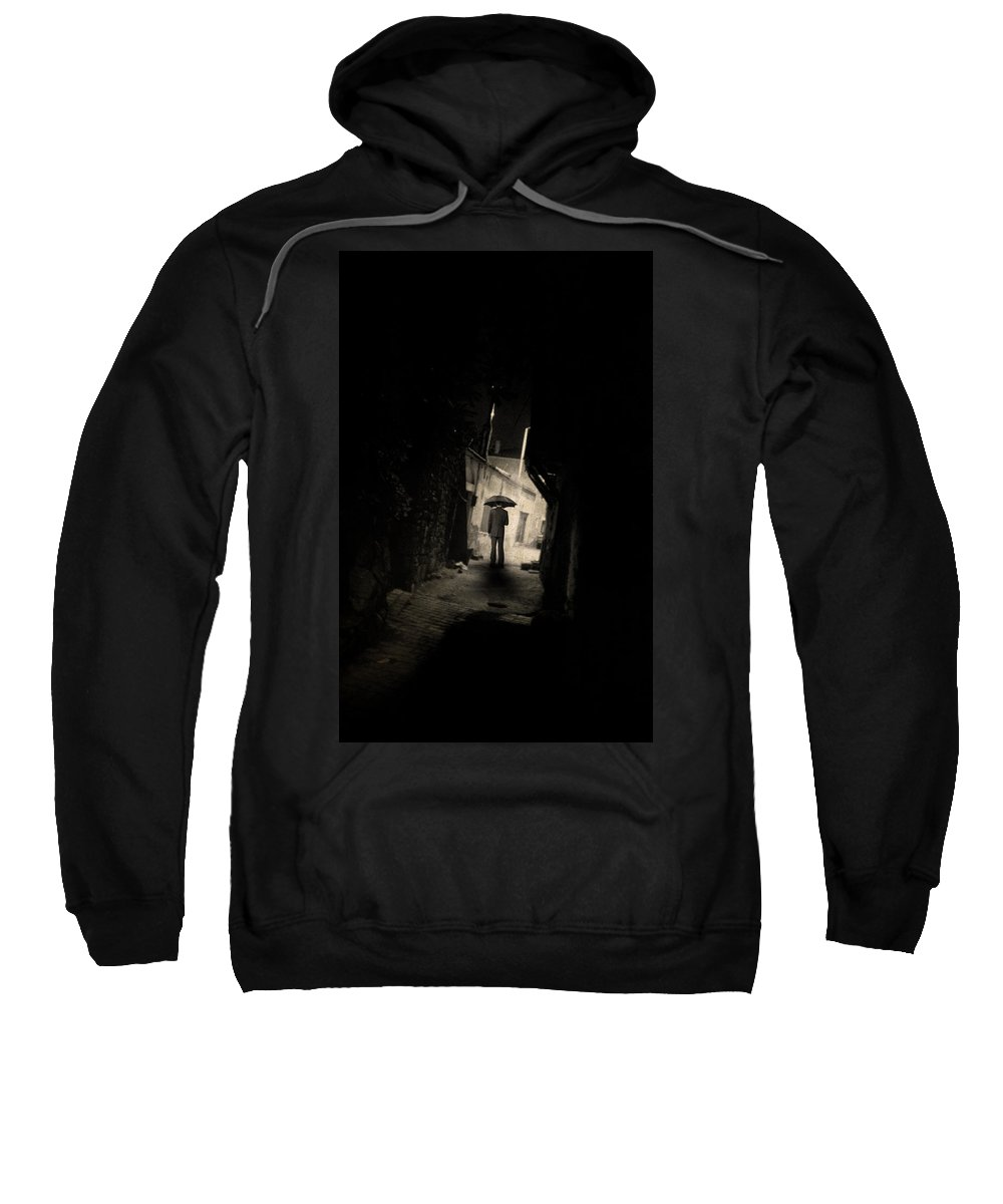 Rain Sweatshirt featuring the photograph Every Stranger's Eyes by Zapista