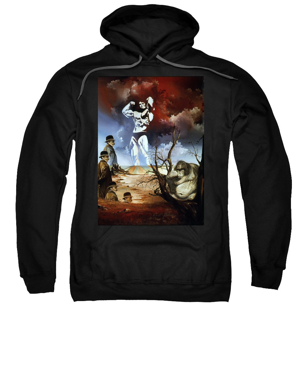 Surrealism Sweatshirt featuring the painting Evolution by Otto Rapp