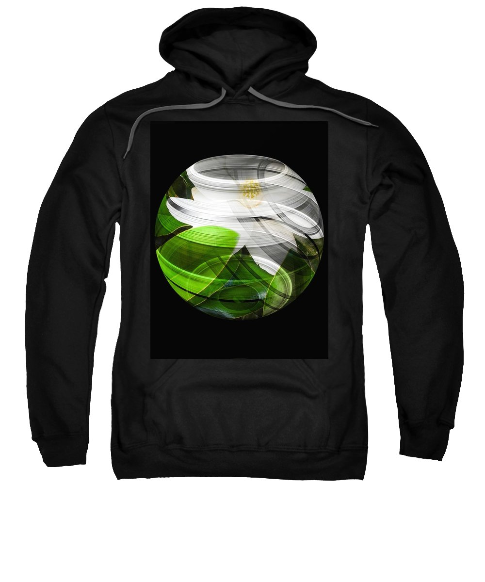 Flowers Sweatshirt featuring the digital art Explore by Tina Vaughn