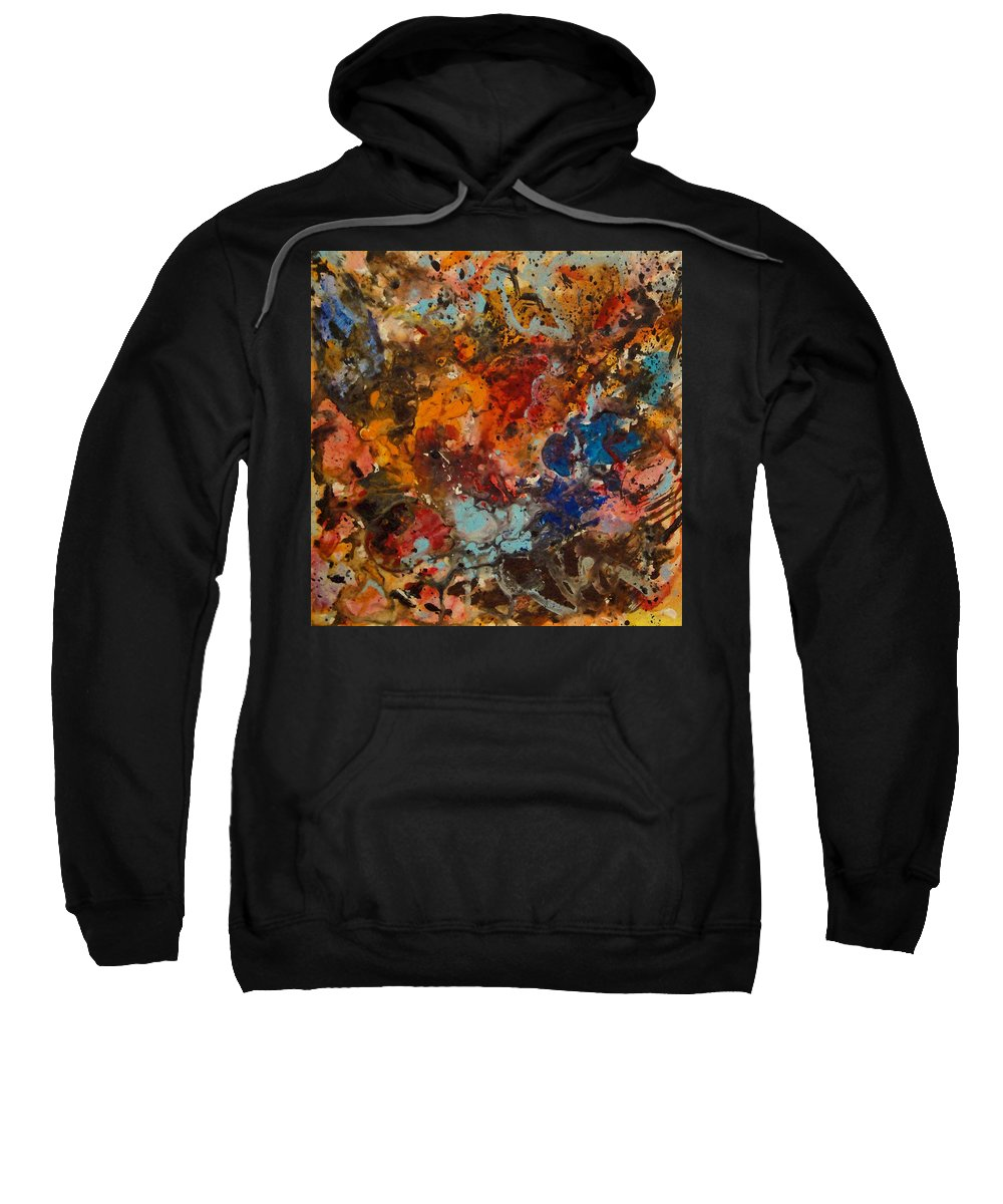 Expressionism Sweatshirt featuring the painting Explosive Chaos by Natalie Holland