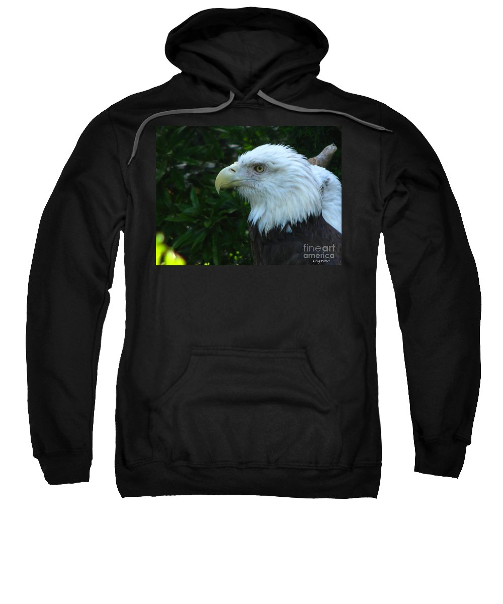 Eagle Sweatshirt featuring the photograph Eyecon by Greg Patzer