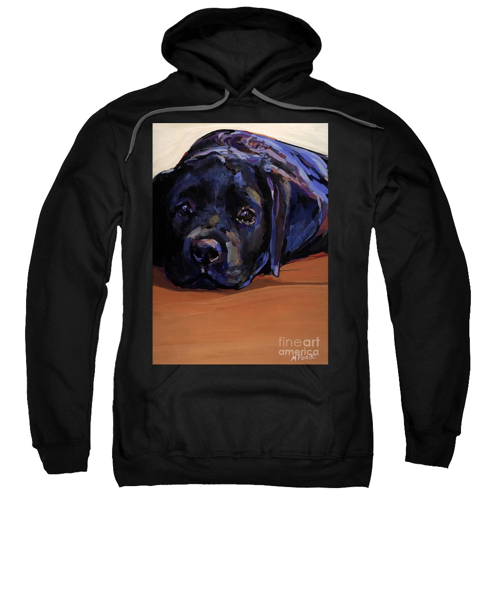 Labrador Retriever Puppy Sweatshirt featuring the painting Eyes For You by Molly Poole