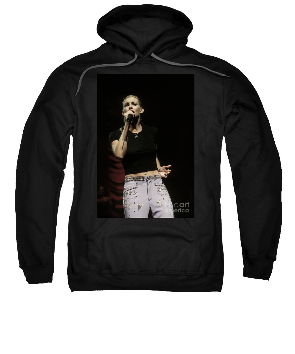 Singer Sweatshirt featuring the photograph Faith Hill by Concert Photos