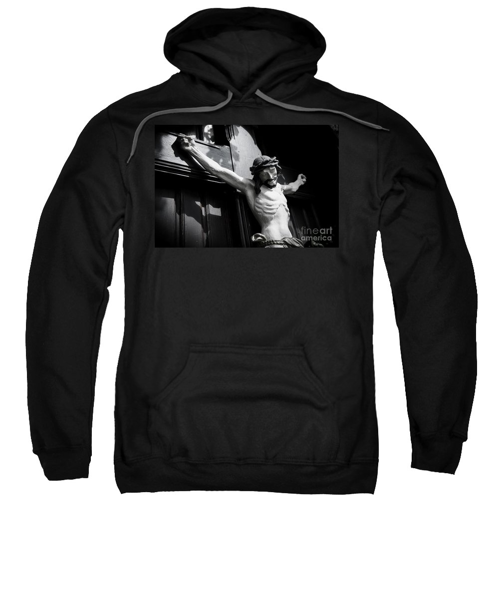 Christ Sweatshirt featuring the photograph Faith2 by Hannes Cmarits
