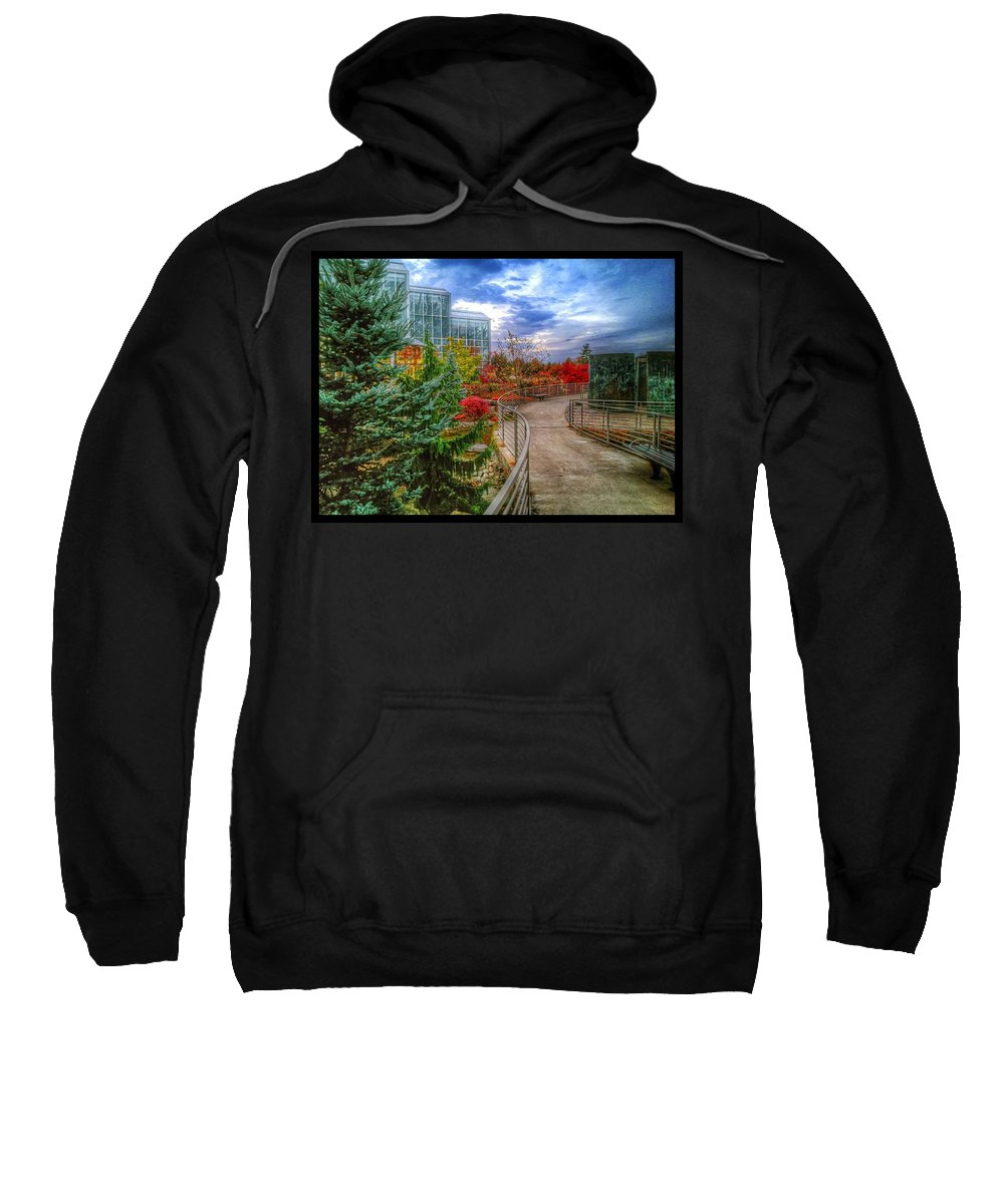 Landscape Sweatshirt featuring the photograph Fall At The Gardens by Christopher Foote