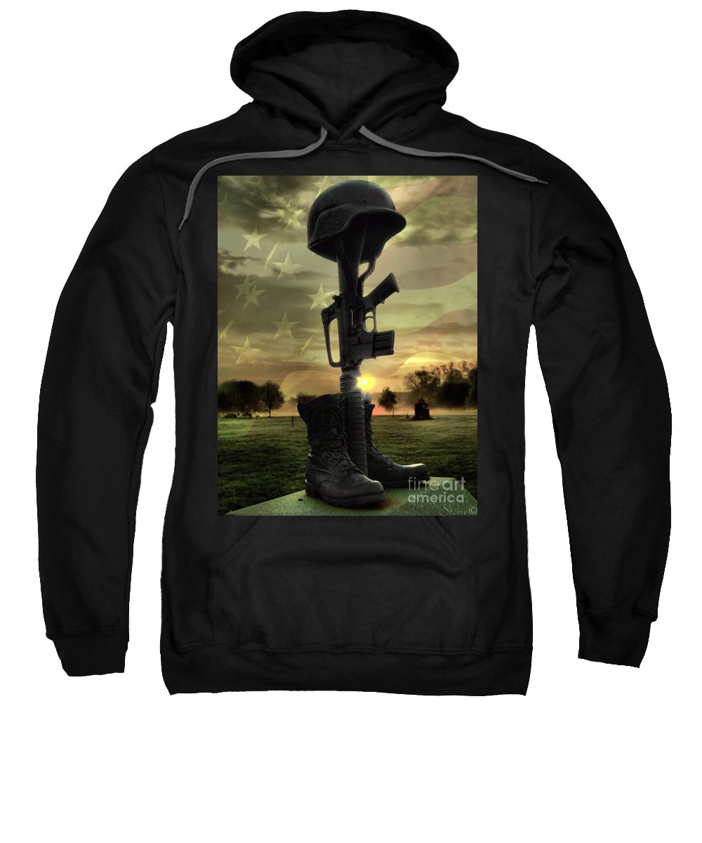 4th Sweatshirt featuring the photograph Fallen Soldiers Memorial by September Stone