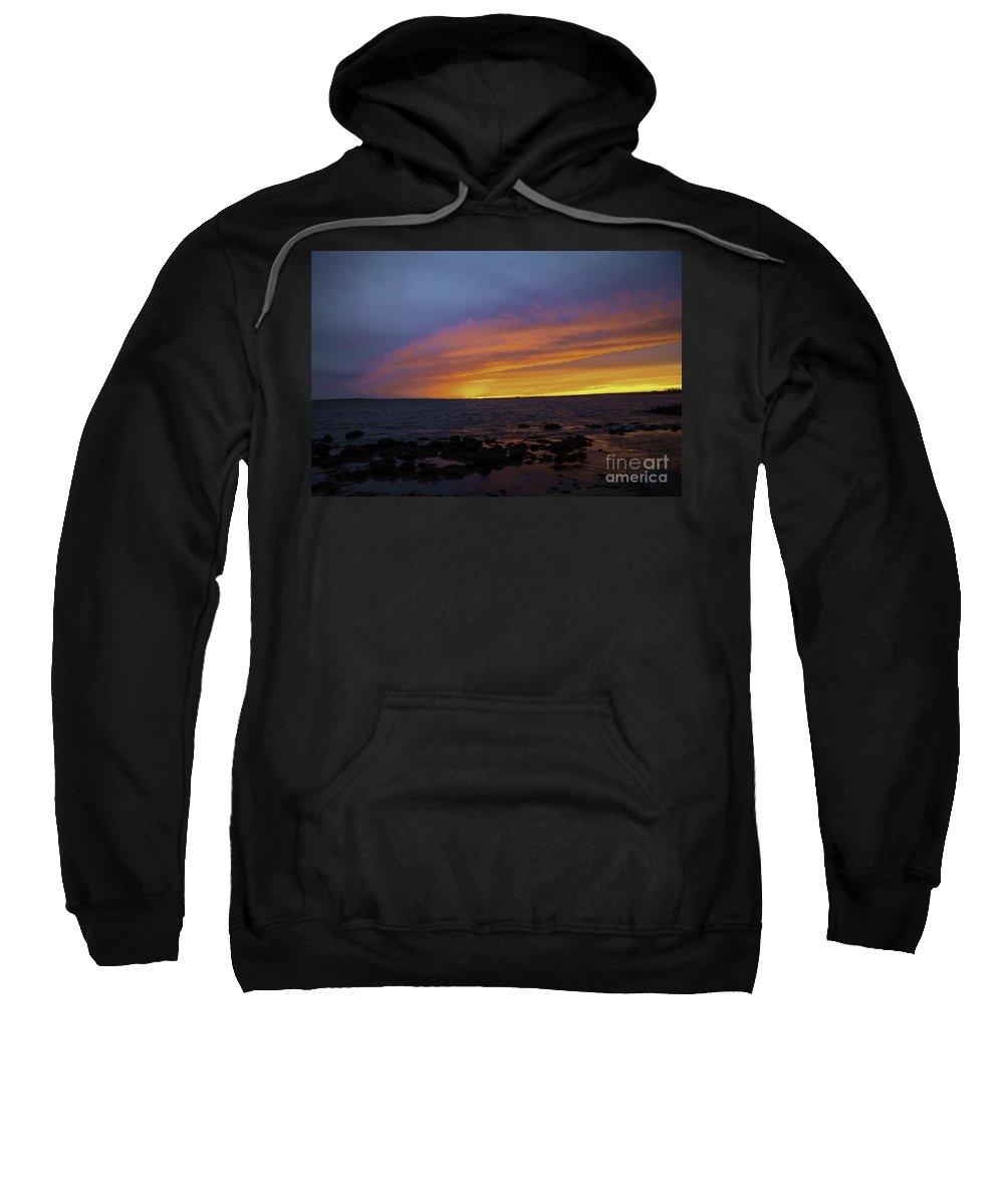 Borough Sweatshirt featuring the photograph Falling Away by Joe Geraci