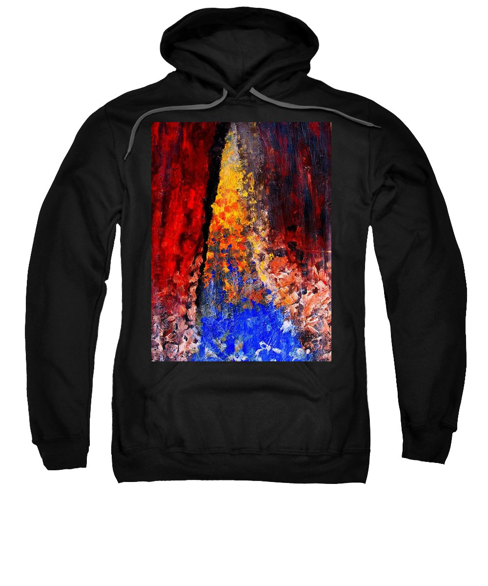 Abstract Sweatshirt featuring the painting Falling by Ian MacDonald