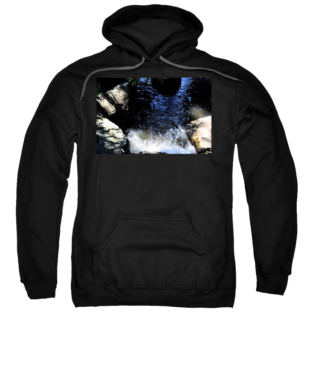 Falling Waters Sweatshirt featuring the photograph Falling Waters by Luther Fine Art