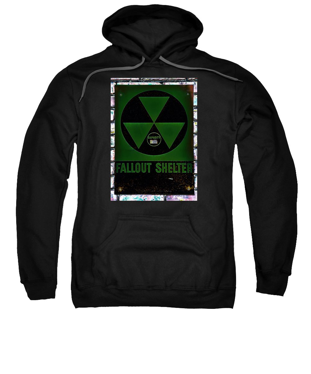 Fallout Sweatshirt featuring the photograph Fallout Shelter Wall 4 by Stephen Stookey