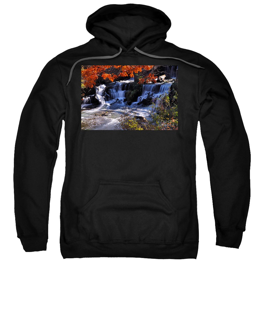Photography Sweatshirt featuring the photograph Falls In The Fall by Larry Ricker
