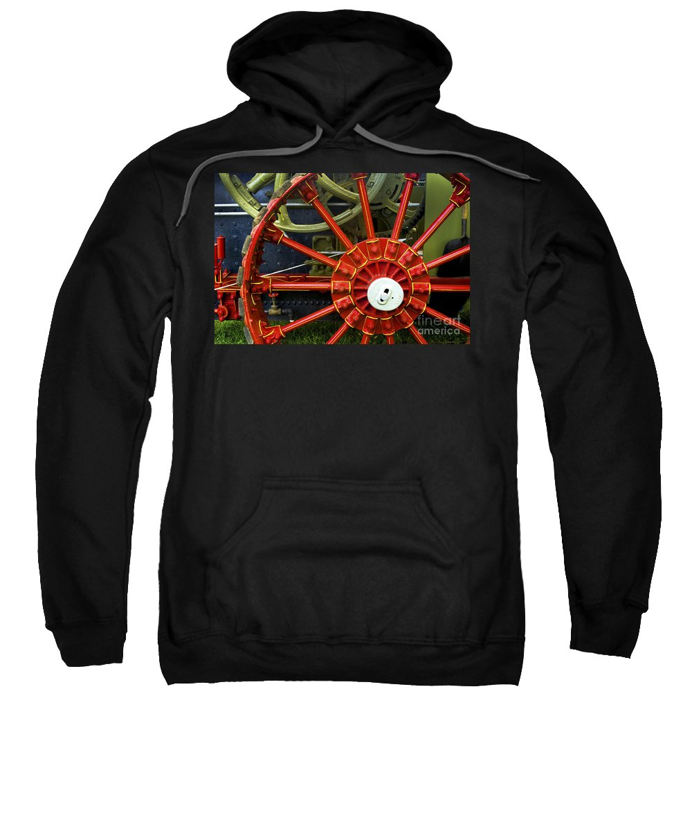 Wheel Sweatshirt featuring the photograph Fancy Tractor Wheel by Paul W Faust - Impressions of Light