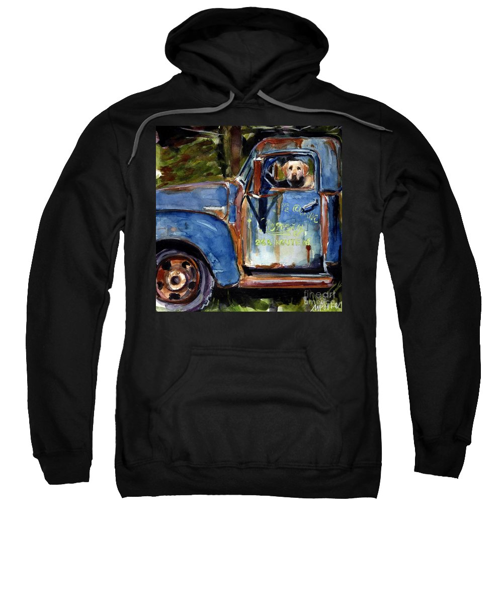 Dog Sweatshirt featuring the painting Farmhand by Molly Poole