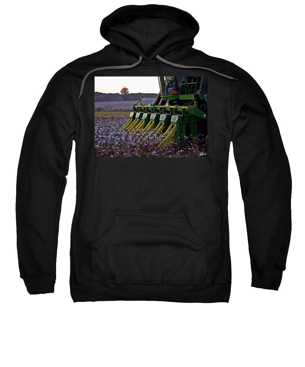 Ag Sweatshirt featuring the photograph Fast Picker by David Zarecor