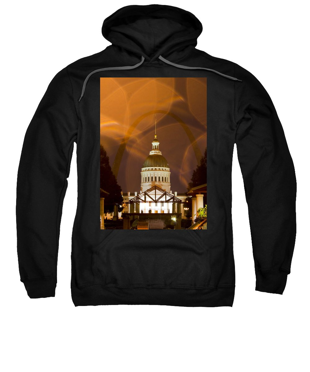 Historic Federal Courthouse Sweatshirt featuring the photograph Federal Courthouse St Louis by Garry McMichael