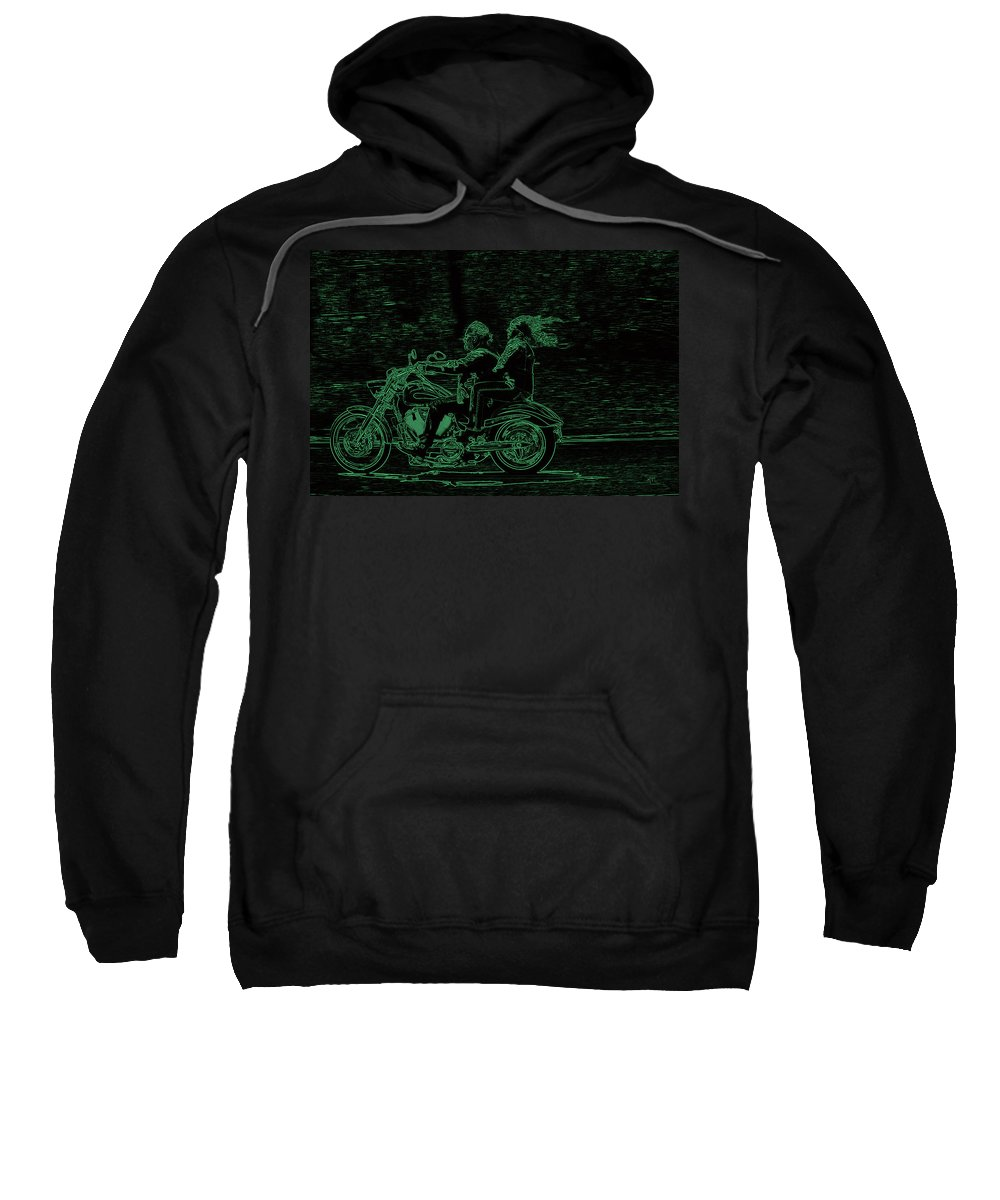 Motorcycling Sweatshirt featuring the photograph Feeling The Ride by Karol Livote