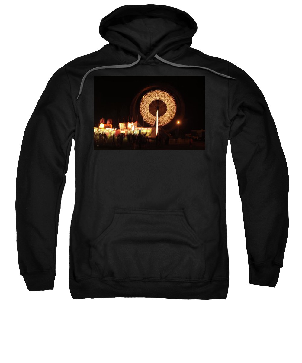 Carnival Sweatshirt featuring the photograph Ferris Wheel Spin by Karol Livote