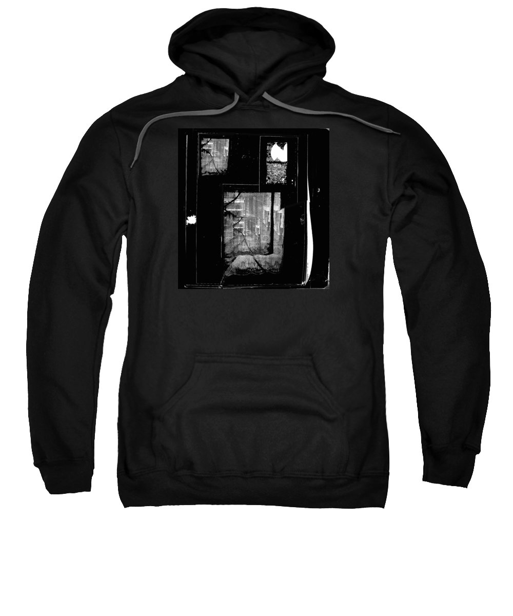 Film Noir Signe Hasso Lloyd Nolan House On 92nd Street 1945 Collage Antlers Hotel Victor Co 1971-2012 Sweatshirt featuring the photograph Film Noir Signe Hasso Lloyd Nolan House On 92nd Street 1945 Collage Antlers Hotel Victor Co 1971-'10 by David Lee Guss
