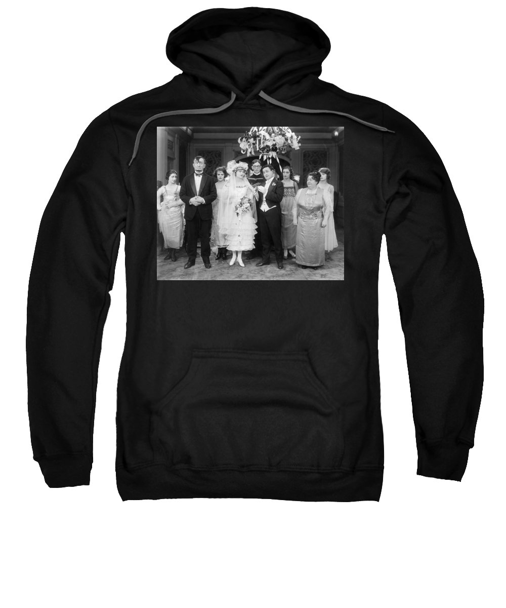 1920 Sweatshirt featuring the photograph Film Still: By Golly, 1920 by Granger