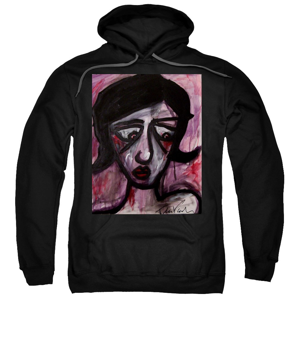 Portait Sweatshirt featuring the painting Finals by Thomas Valentine