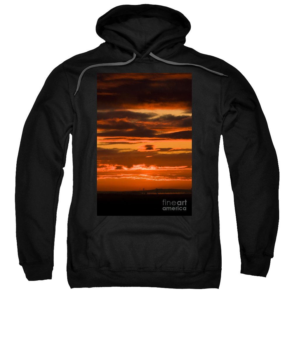 Annegilbert Sweatshirt featuring the photograph Fire In The Sky by Anne Gilbert