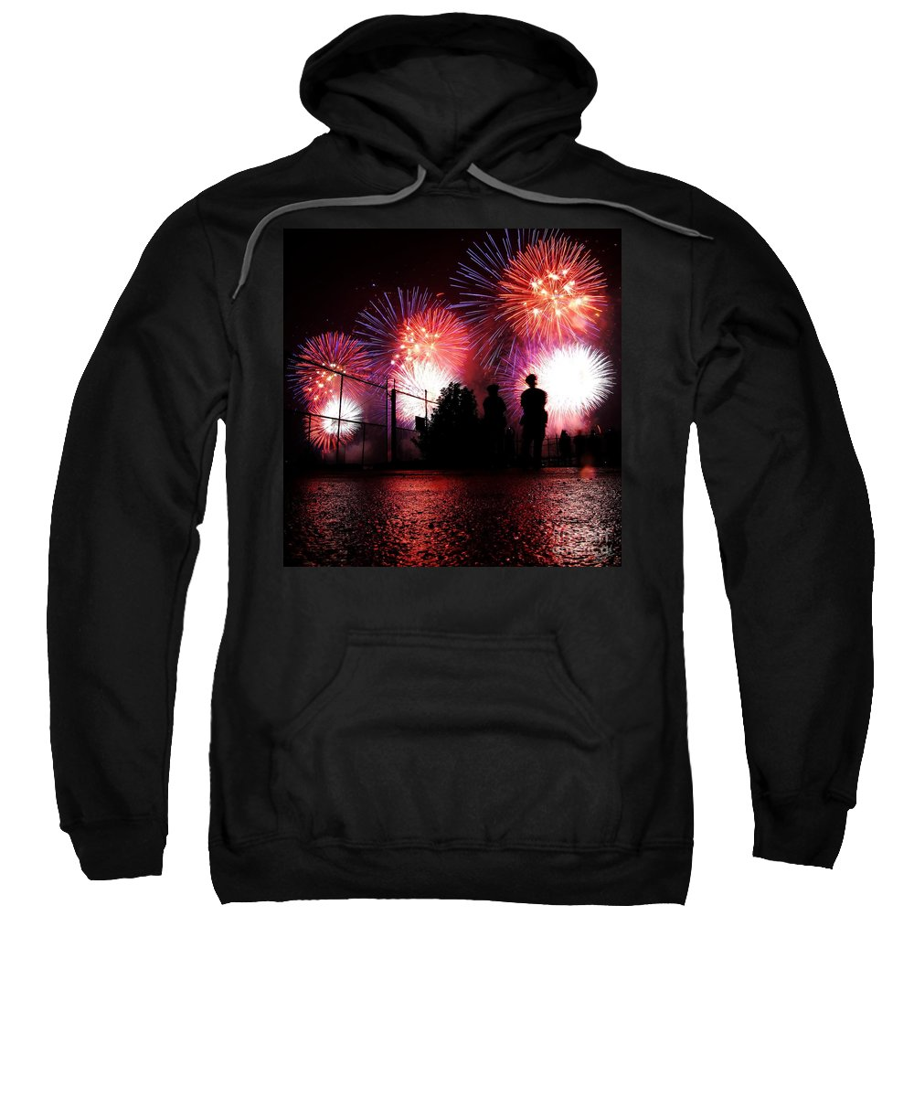 July 4th Fireworks Sweatshirt featuring the photograph Fireworks by Nishanth Gopinathan