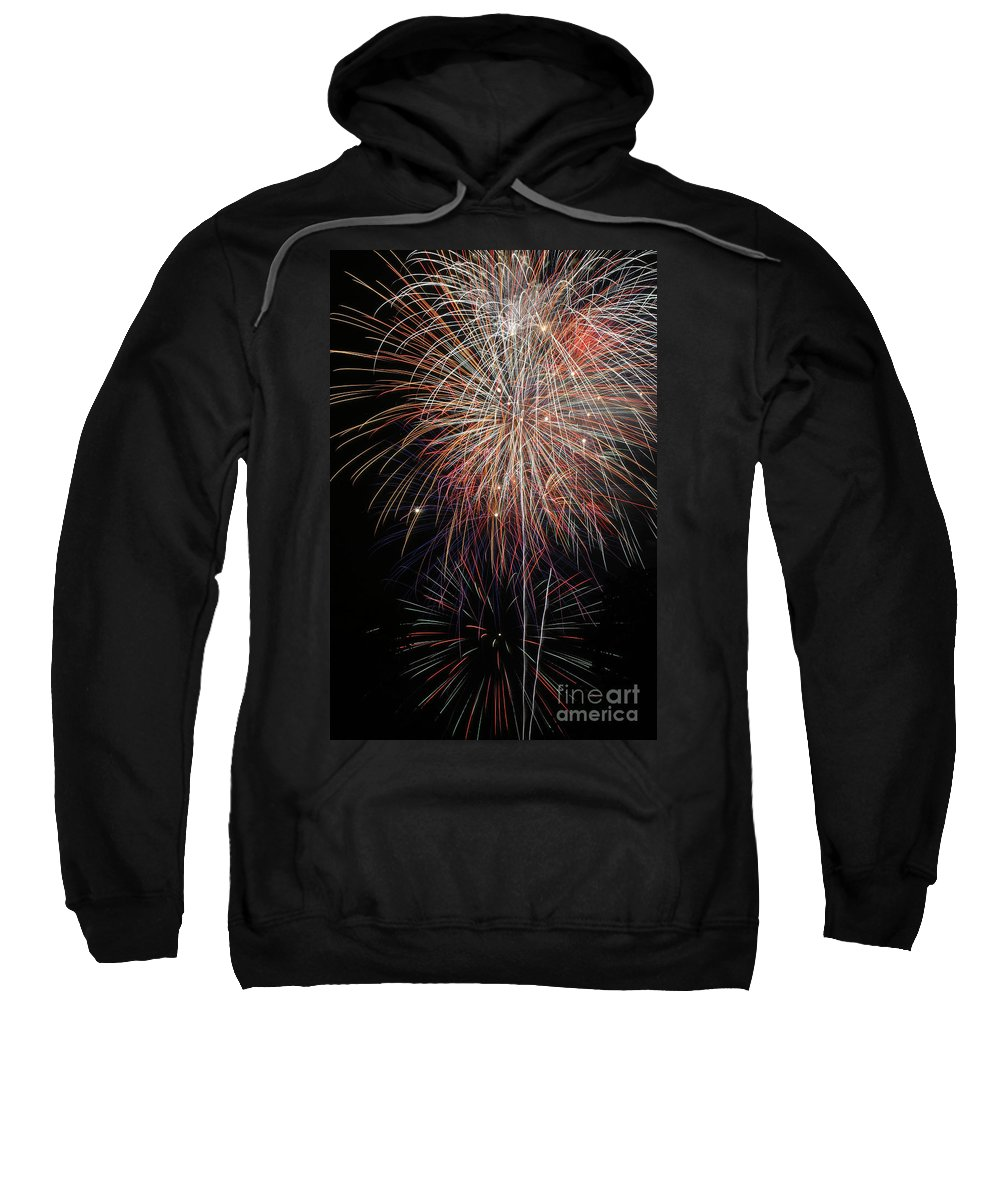 Firework Sweatshirt featuring the photograph Fireworks6503 by Gary Gingrich Galleries