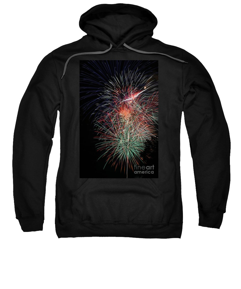Firework Sweatshirt featuring the photograph Fireworks6504 by Gary Gingrich Galleries