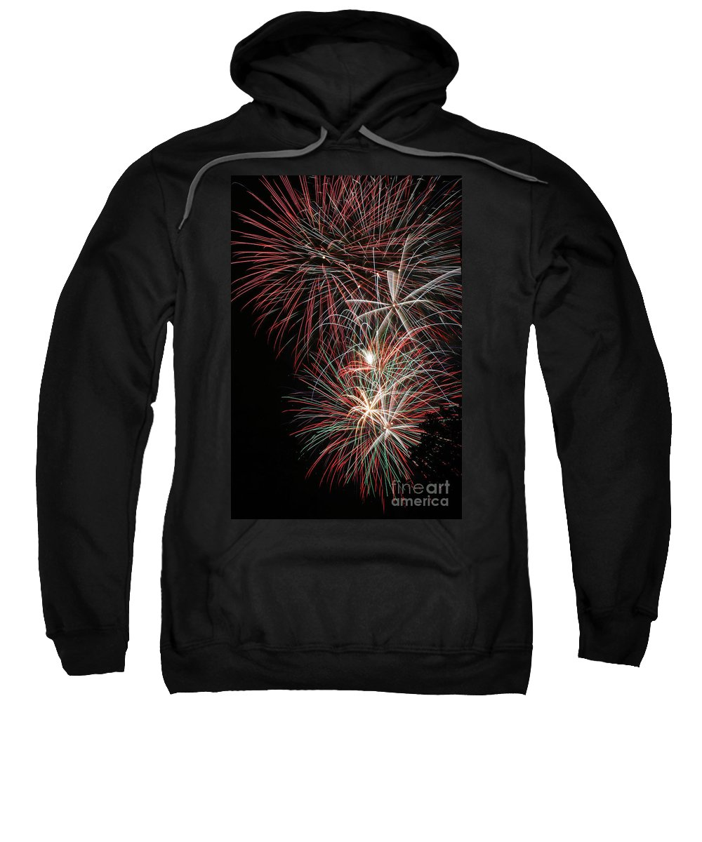 Firework Sweatshirt featuring the photograph Fireworks6518 by Gary Gingrich Galleries