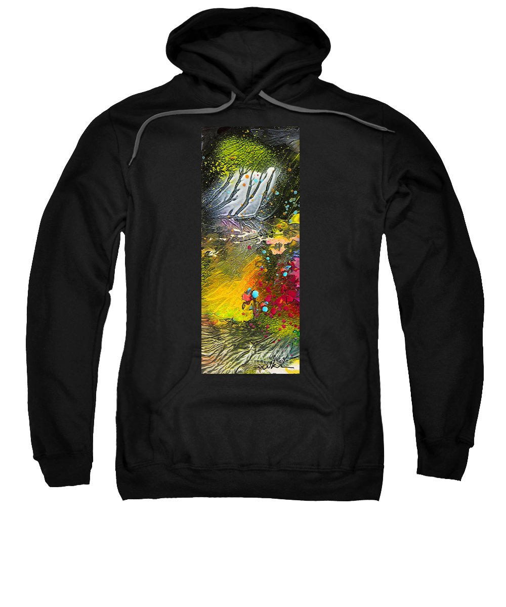 Miki Sweatshirt featuring the painting First Light by Miki De Goodaboom