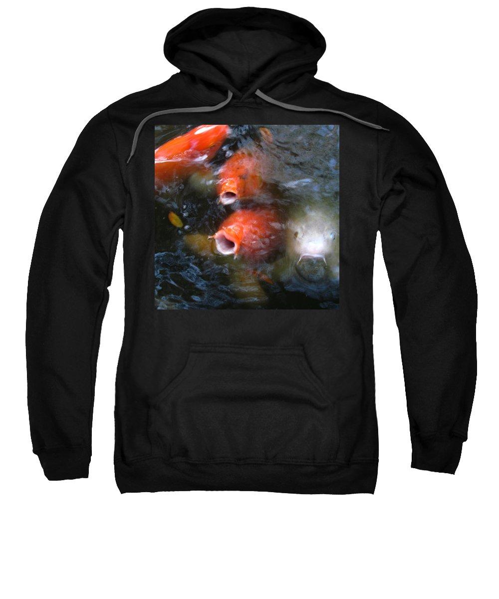 Fish Art Sweatshirt featuring the photograph Fish Mouths 2 by Debra Hurd