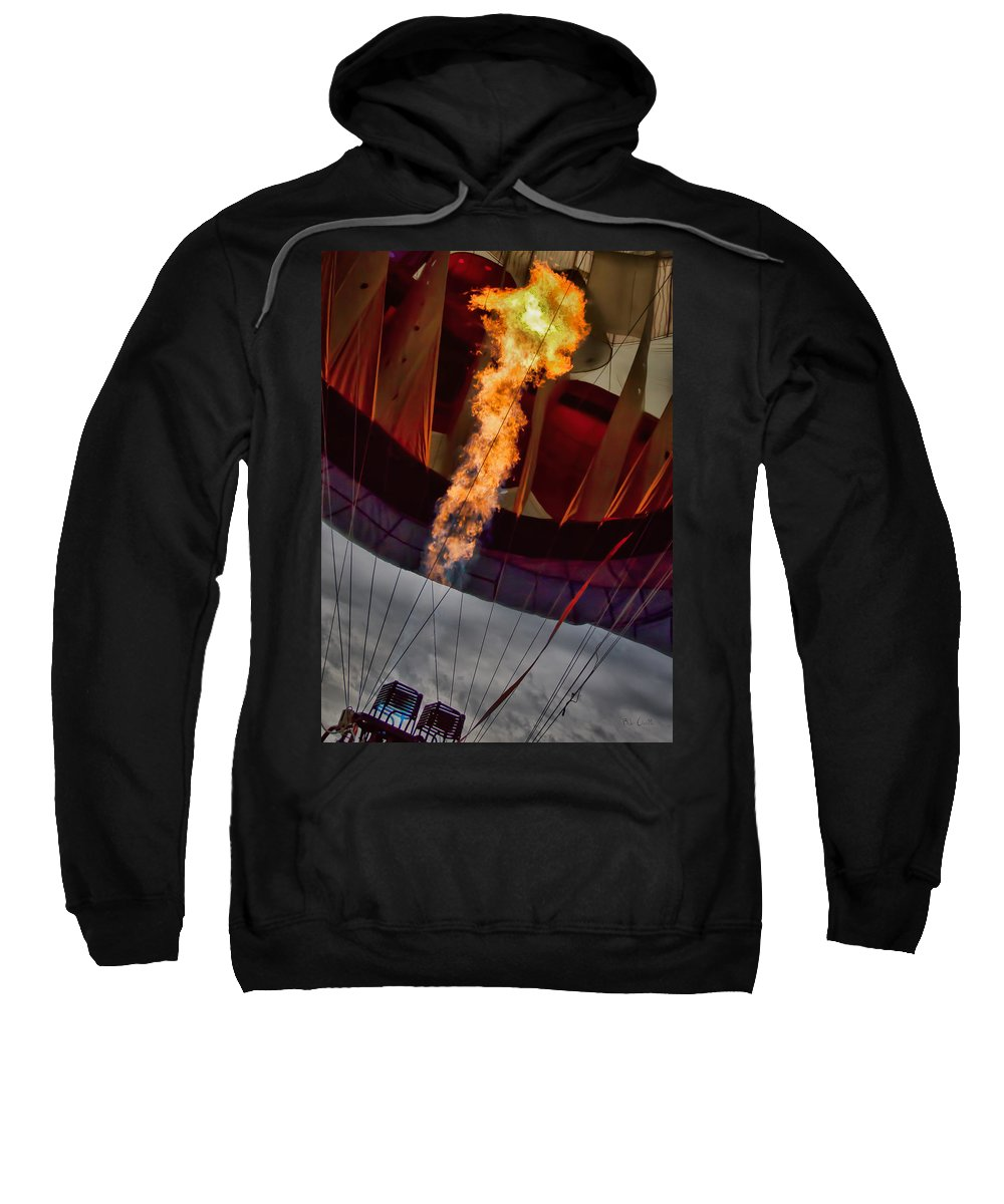 Flame Sweatshirt featuring the photograph Flame On Two by Bob Orsillo