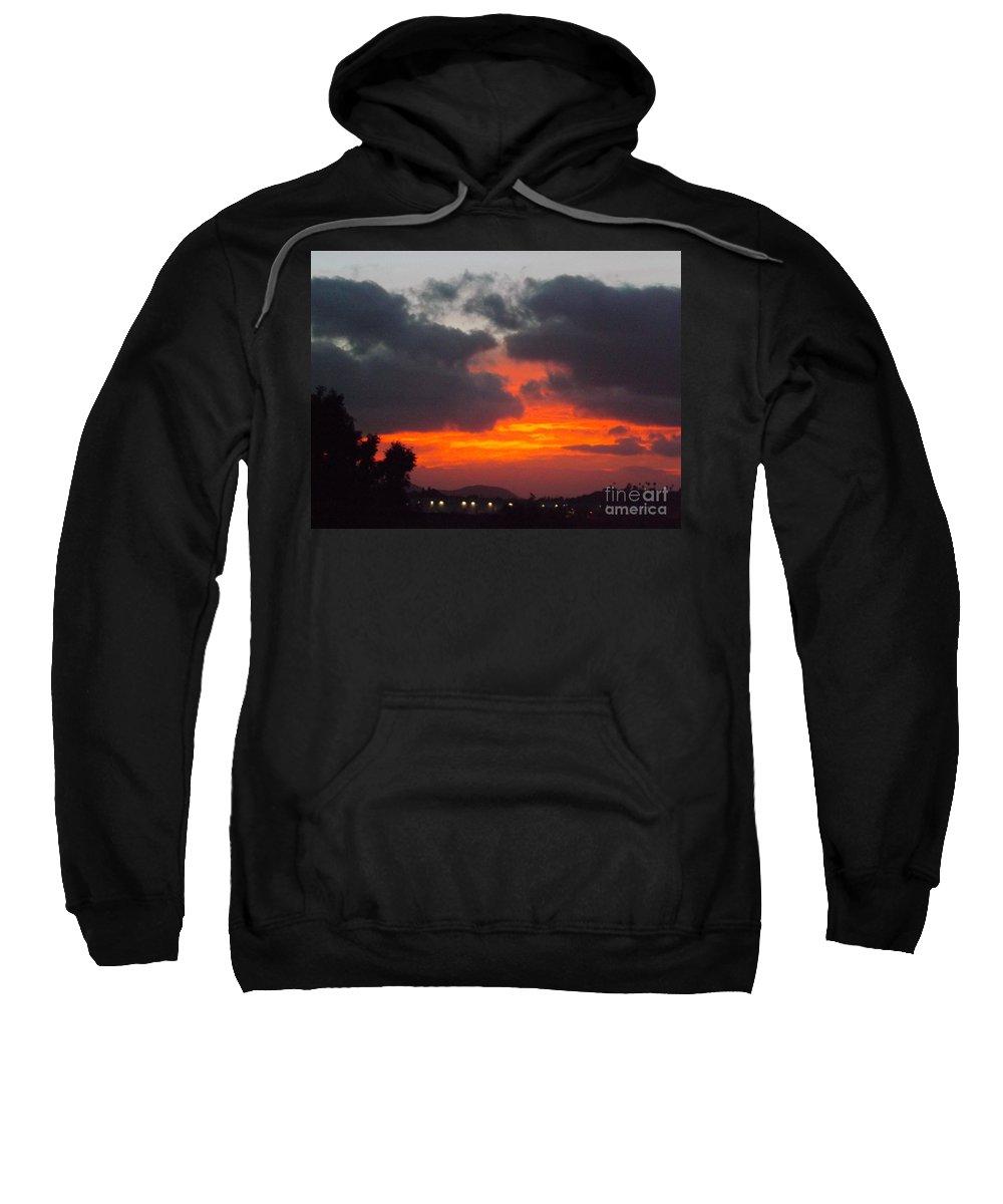 Sunrise Sweatshirt featuring the photograph Flaming Sunrise by Jussta Jussta
