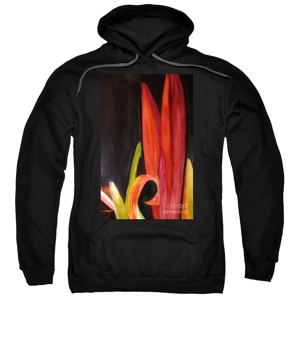 Flower Image Sweatshirt featuring the painting Flourish by Yael VanGruber