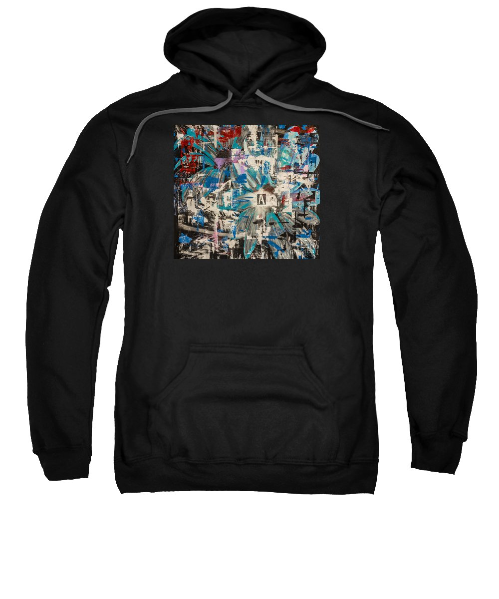 Abstract Sweatshirt featuring the painting Flower Abstract by Bruce Stanfield