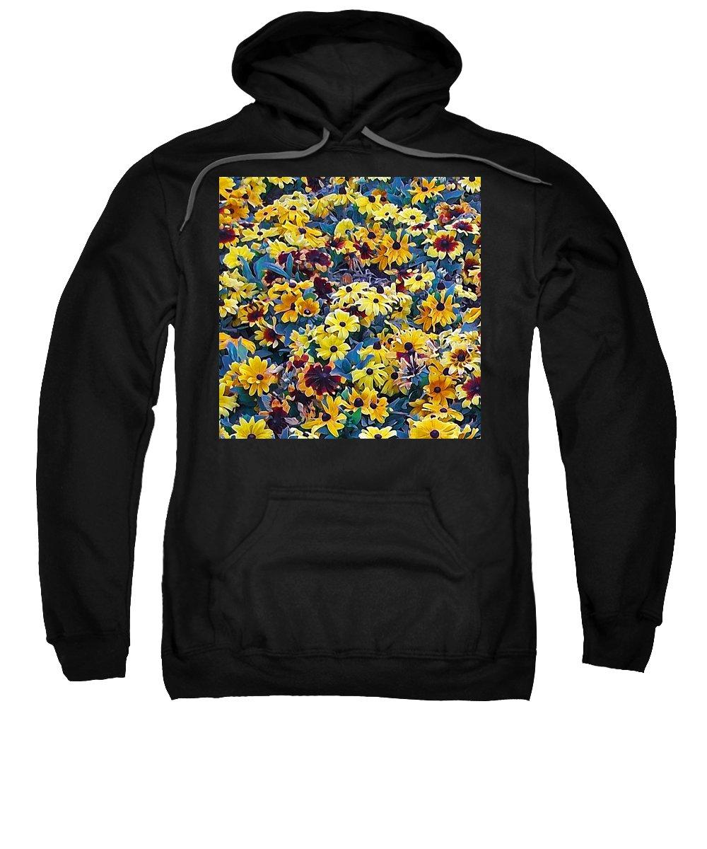Flower Sweatshirt featuring the digital art Flower Garden by Ernie Echols
