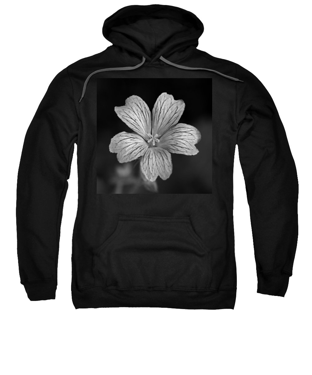 Flower Sweatshirt featuring the photograph Flower In Black And White by David Freuthal