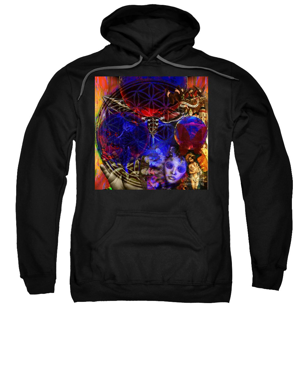 Fibonacci System Sweatshirt featuring the digital art Flower Of Creation by Joseph Mosley