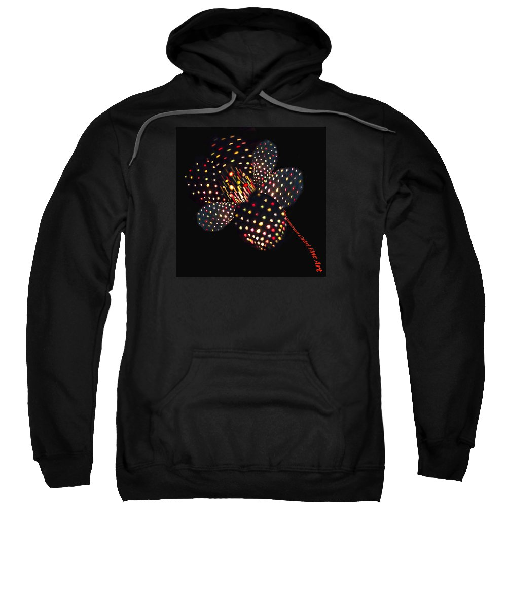 Flower Sweatshirt featuring the photograph Flower Of Lights by Anne Cameron Cutri