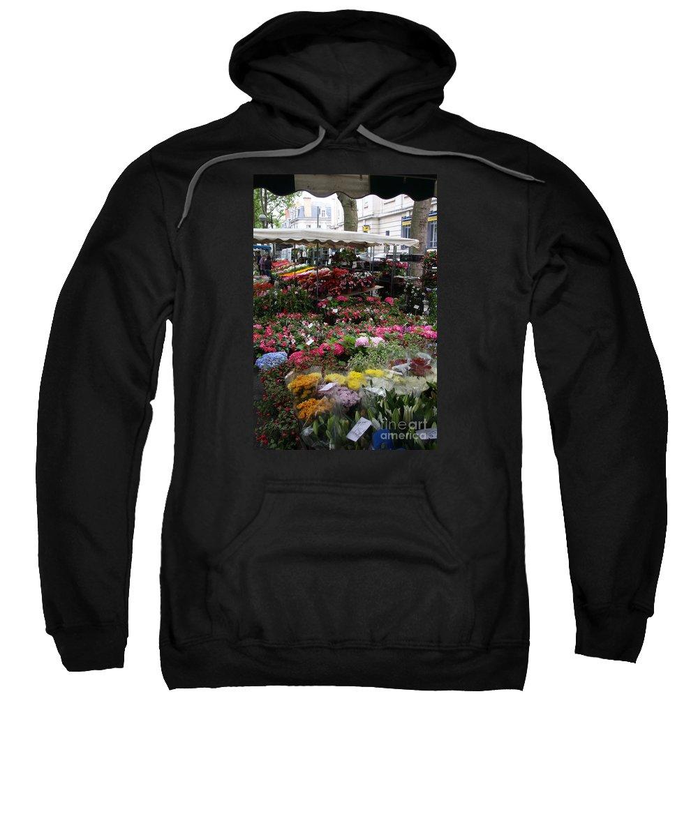 Flowermarket Sweatshirt featuring the photograph Flowermarket - Tours by Christiane Schulze Art And Photography