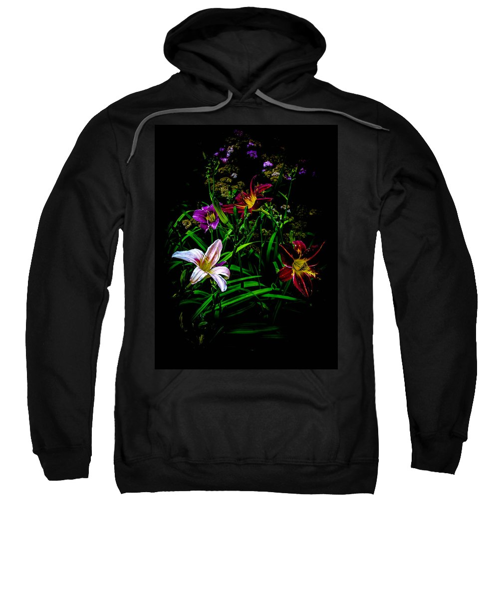 Flower Sweatshirt featuring the photograph Flowers In The Garden by Sherman Perry