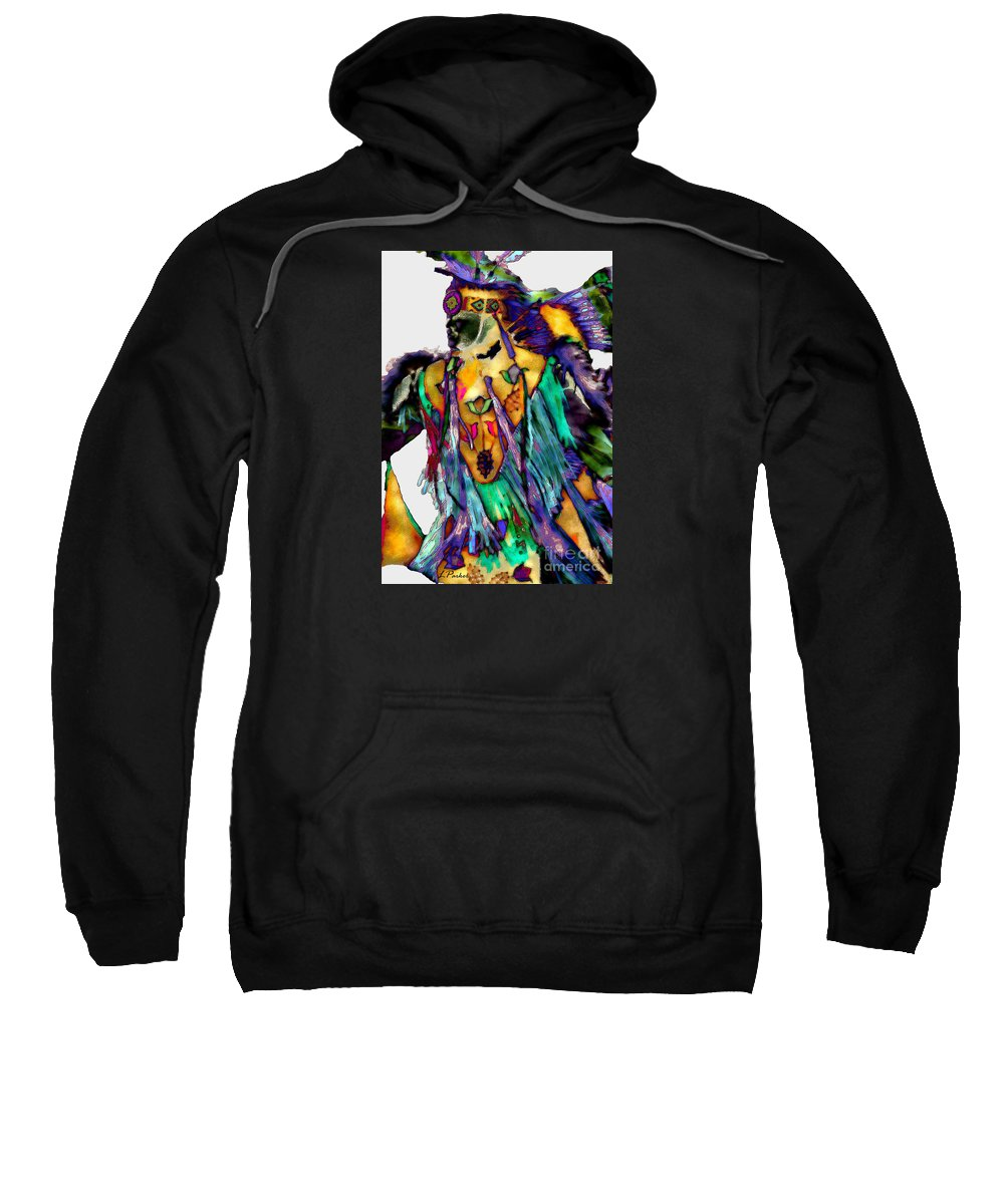 Abstract Sweatshirt featuring the photograph Flowing Feathers by Linda Parker