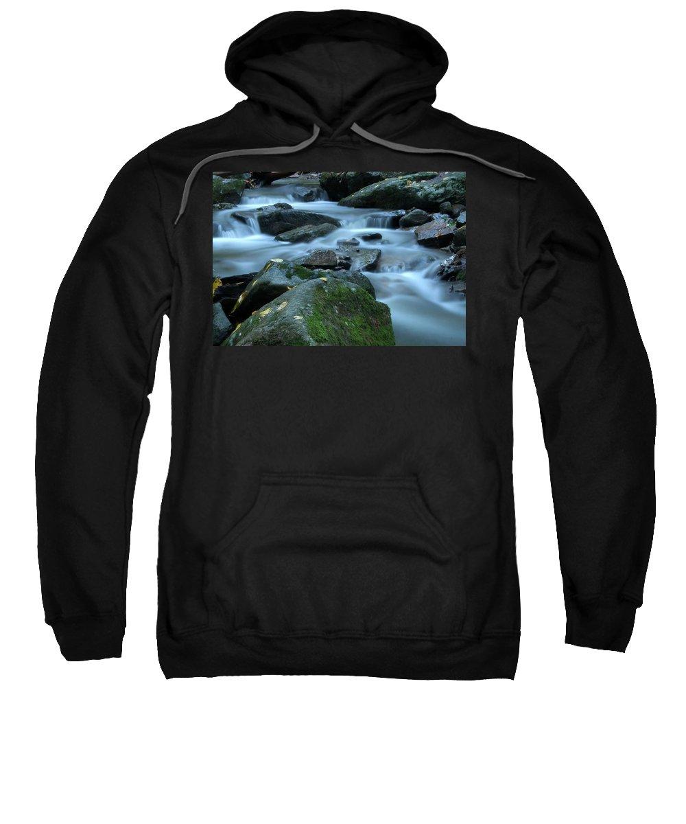 Stream Sweatshirt featuring the photograph Flowing Spirit by Karol Livote