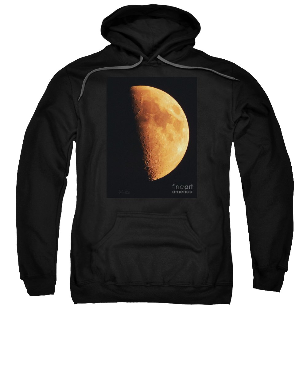 Moon Sweatshirt featuring the photograph Fly Me To The Moon by Robert ONeil