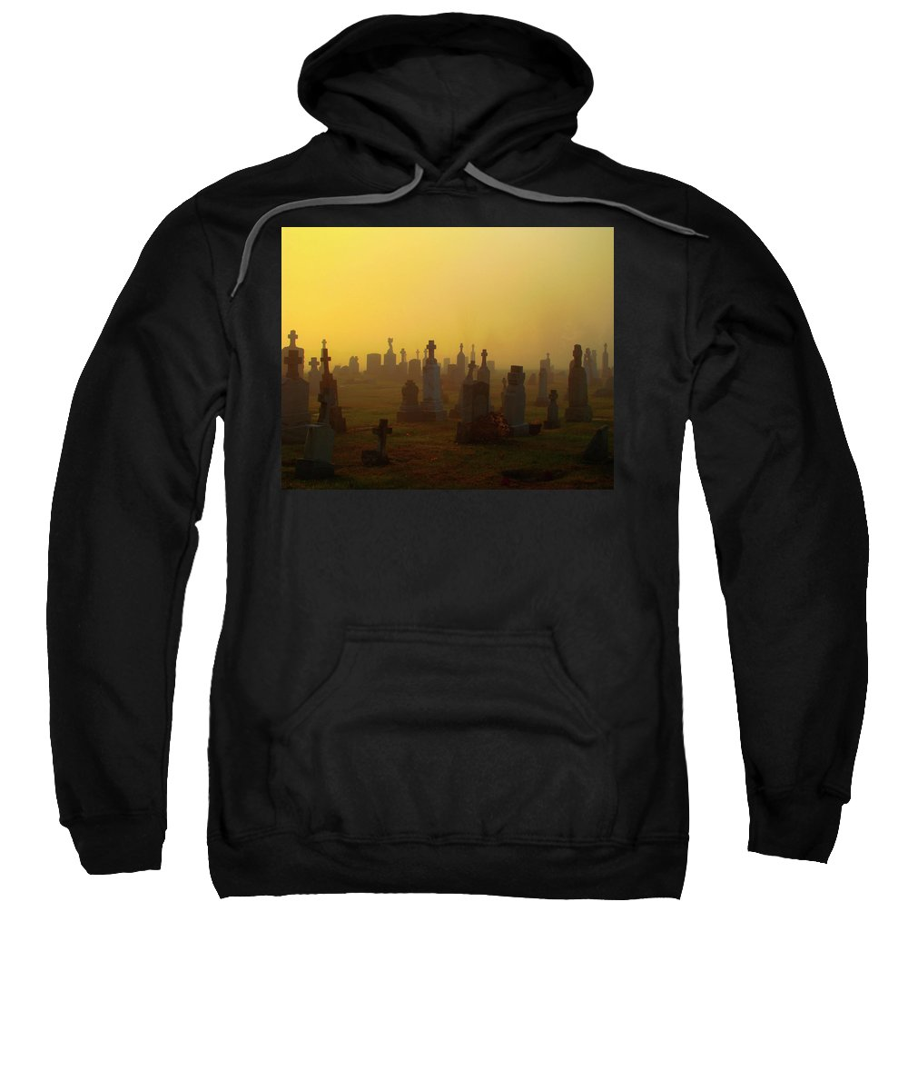 Fog Sweatshirt featuring the photograph Looks Like Halloween Morning Scene by Gothicrow Images