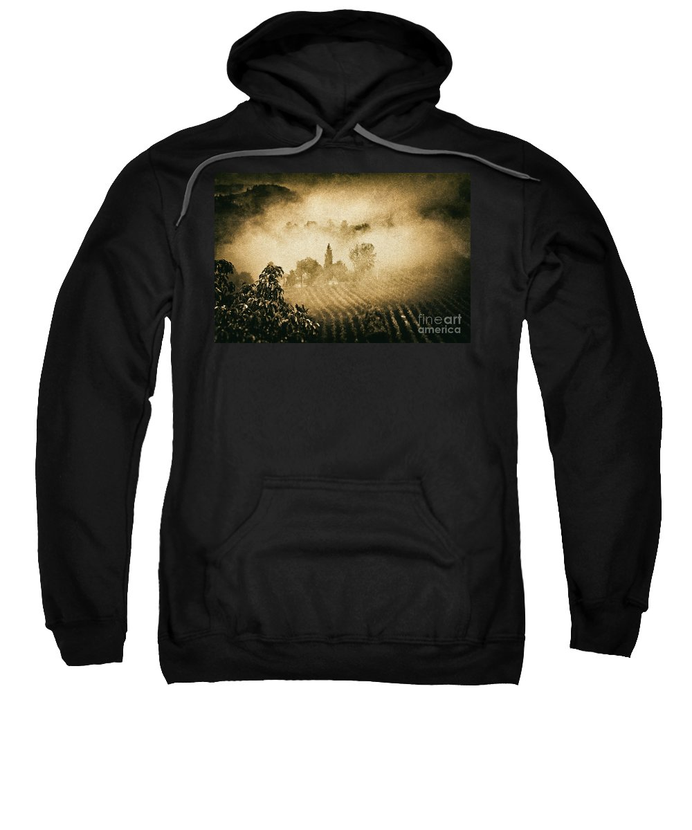 Atmospheric Sweatshirt featuring the photograph Foggy Tuscany by Silvia Ganora